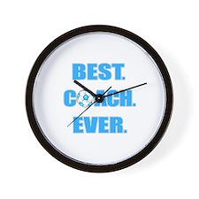 Best. Coach. Ever. Blue Wall Clock