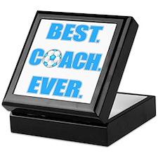 Best. Coach. Ever. Blue Keepsake Box