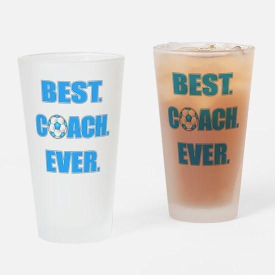 Best. Coach. Ever. Blue Drinking Glass