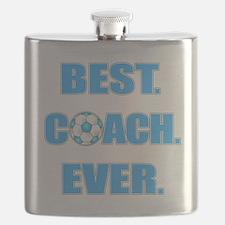 Best. Coach. Ever. Blue Flask