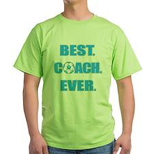 Best. Coach. Ever. Blue T-Shirt
