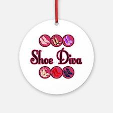 Shoe Diva Ornament (Round)