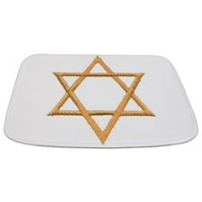 Gold Star of David Bathmat