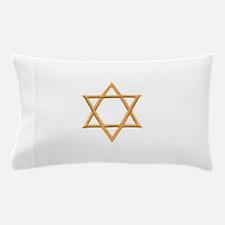 Gold Star of David Pillow Case