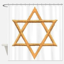 Gold Star of David Shower Curtain
