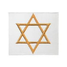 Gold Star of David Throw Blanket