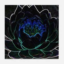 Neon Water Lily Tile Coaster