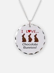 I Love Chocolate Bunnies Necklace