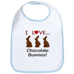 I Love Chocolate Bunnies Bib