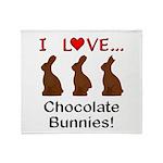 I Love Chocolate Bunnies Throw Blanket