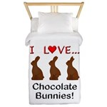 I Love Chocolate Bunnies Twin Duvet