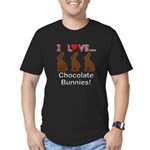 I Love Chocolate Bunni Men's Fitted T-Shirt (dark)