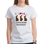 I Love Chocolate Bunnies Women's T-Shirt