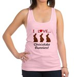 I Love Chocolate Bunnies Racerback Tank Top