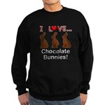 I Love Chocolate Bunnies Sweatshirt (dark)