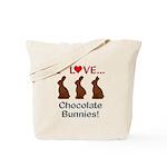 I Love Chocolate Bunnies Tote Bag