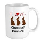 I Love Chocolate Bunnies Large Mug