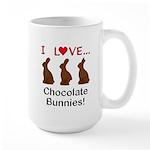 I Love Chocolate Bunnies Large Mug