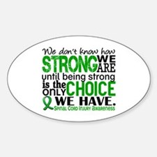 Spinal Cord Injury HowStrongWeAre1 Sticker (Oval)
