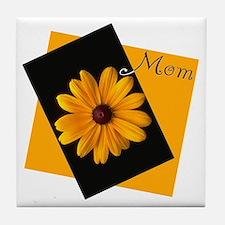 Mom (Sunny Flower) Tile Coaster