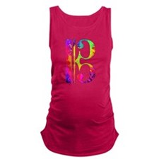 Colorful Alto Clef Maternity Tank Top