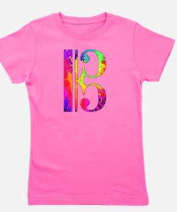 Colorful Alto Clef Girl's Tee