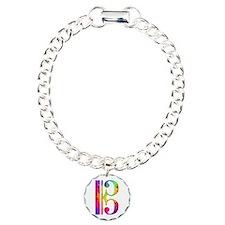 Colorful Alto Clef Charm Bracelet, One Charm