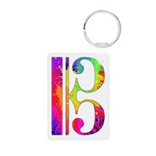 Colorful Alto Clef Keychains