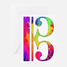 Colorful Alto Clef Greeting Card
