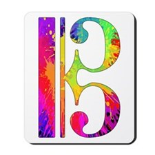 Colorful Alto Clef Mousepad