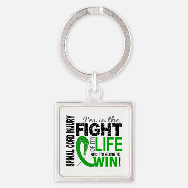 Spinal Cord Injury FightOfMyLife1 Square Keychain