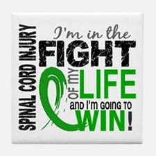Spinal Cord Injury FightOfMyLife1 Tile Coaster