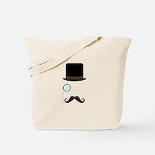 Classy Gentleman Mustache Tote Bag