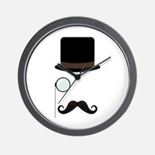 Classy Gentleman Mustache Wall Clock