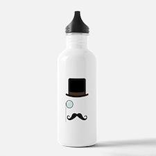 Classy Gentleman Mustache Water Bottle