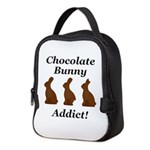 Chocolate Bunny Addict Neoprene Lunch Bag
