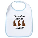 Chocolate Bunny Addict Bib