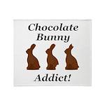 Chocolate Bunny Addict Throw Blanket