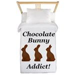 Chocolate Bunny Addict Twin Duvet