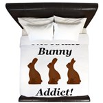 Chocolate Bunny Addict King Duvet