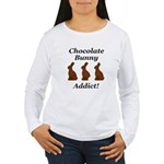 Chocolate Bunny Addict Women's Long Sleeve T-Shirt