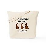 Chocolate Bunny Addict Tote Bag