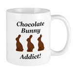 Chocolate Bunny Addict Mug