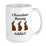 Chocolate Bunny Addict Large Mug
