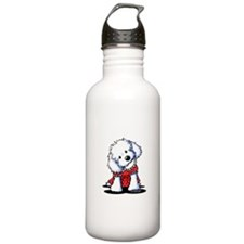 Maltese In Dots Water Bottle