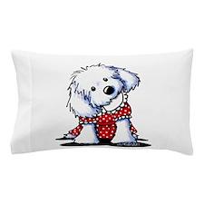 Maltese In Dots Pillow Case