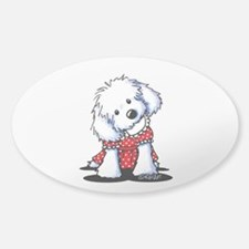 Maltese In Dots Decal
