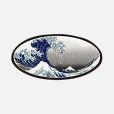 great wave of Kanagawa by hokusai Patches