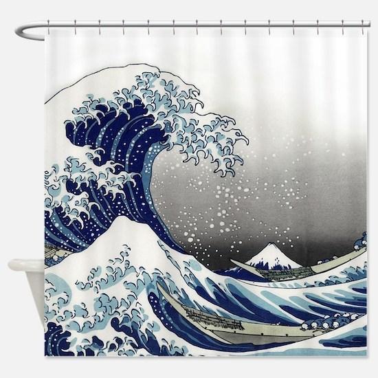 great wave of Kanagawa by hokusai Shower Curtain