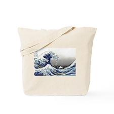great wave of Kanagawa by hokusai Tote Bag